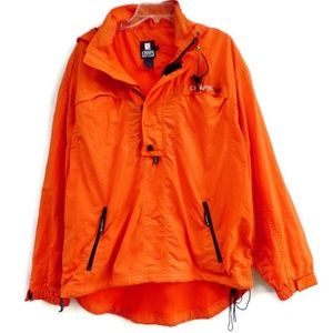 Chaps Ralph Lauren Windbreaker Neon Orange L